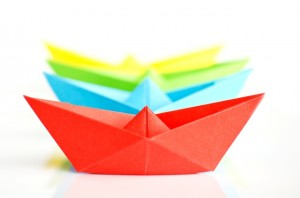 paper boats_royaltyfree